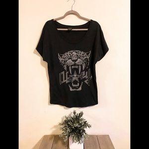Obey Size M Gray Lion Star T-shirt